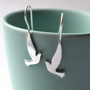 Silver Dove Earrings by Martha Jacklson