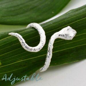 Silver wrap around snake ring