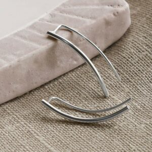 Silver simple curved line climber