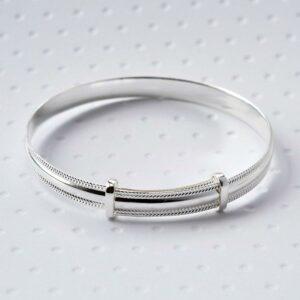 Silver adjustable baby bracelet