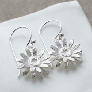 Sterling Silver Daisy Earrings by Martha Jackson