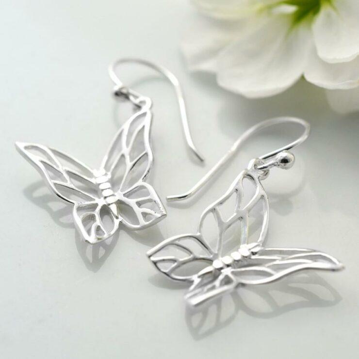 Butterfly Drop Earrings by Martha Jackson