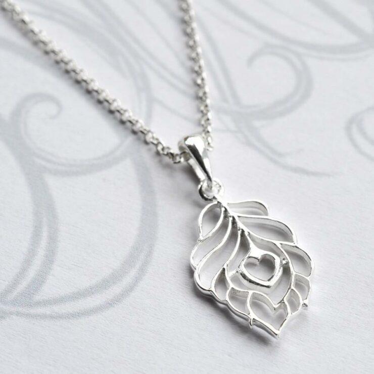 Silver Peacock Love Jewellery by Martha Jackson