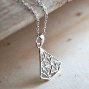 Silver Art Deco Triangle Jewellery by Martha Jackson