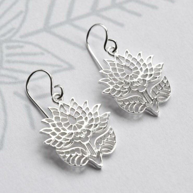 Silver Flowering Lotus Jewellery