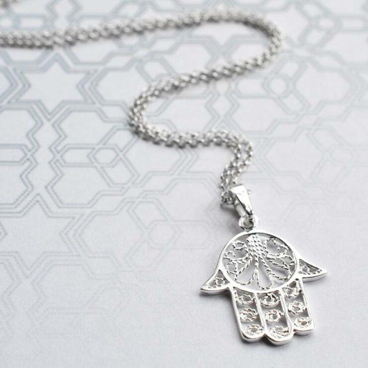 Silver Fatima Hand Jewellery by Martha Jackson