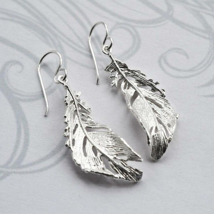 Silver Soft Feather Jewellery by Martha Jackson