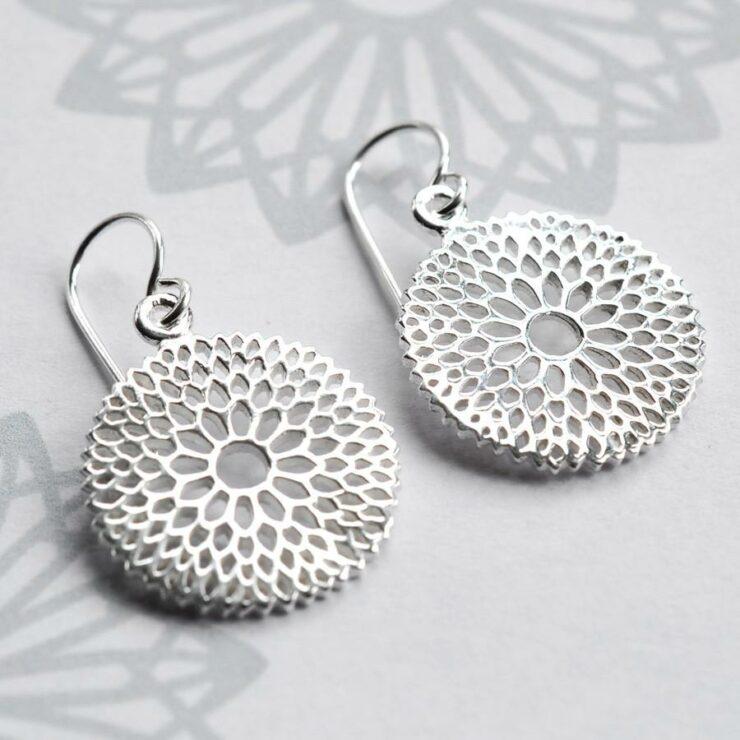 Silver Chrysanthemum Jewellery by Martha Jackson