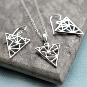 Silver Geometric Triangle Jewellery by Martha Jackson