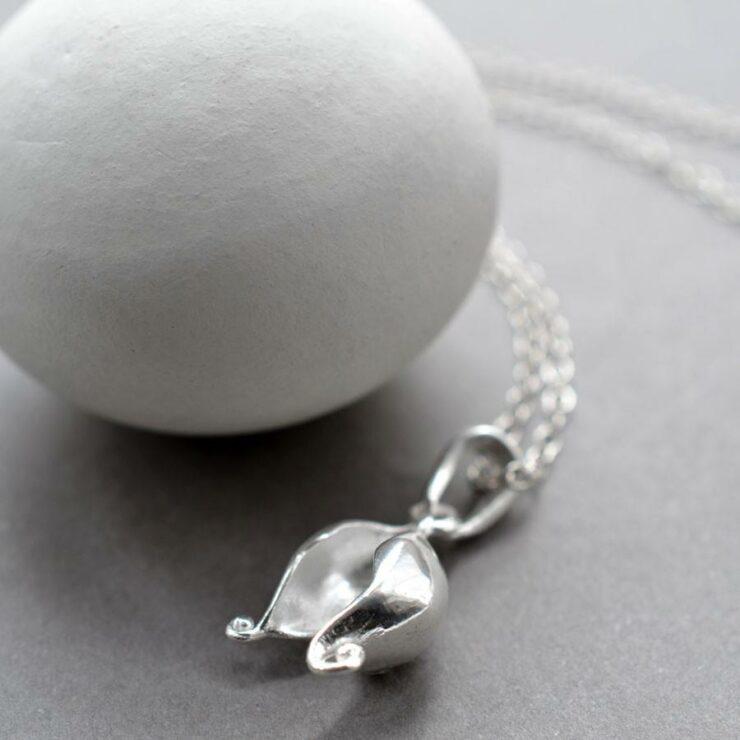 Silver Split Pod Jewellery by Martha Jackson