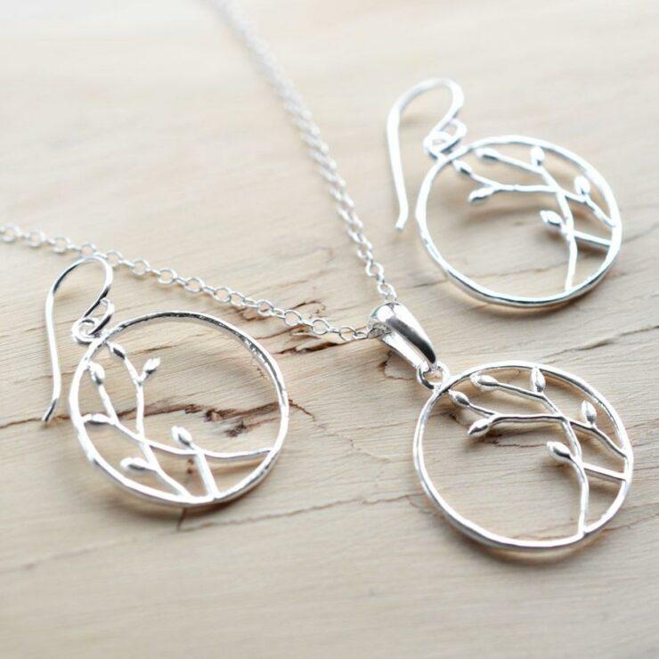 Silver Bud Loop Jewellery by Martha Jackson