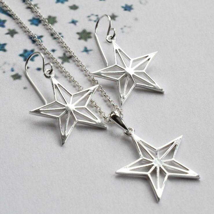 Silver Geometric Star Jewellery by Martha Jackson