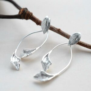 Silver Falling Leaves Jewellery by Martha Jackson