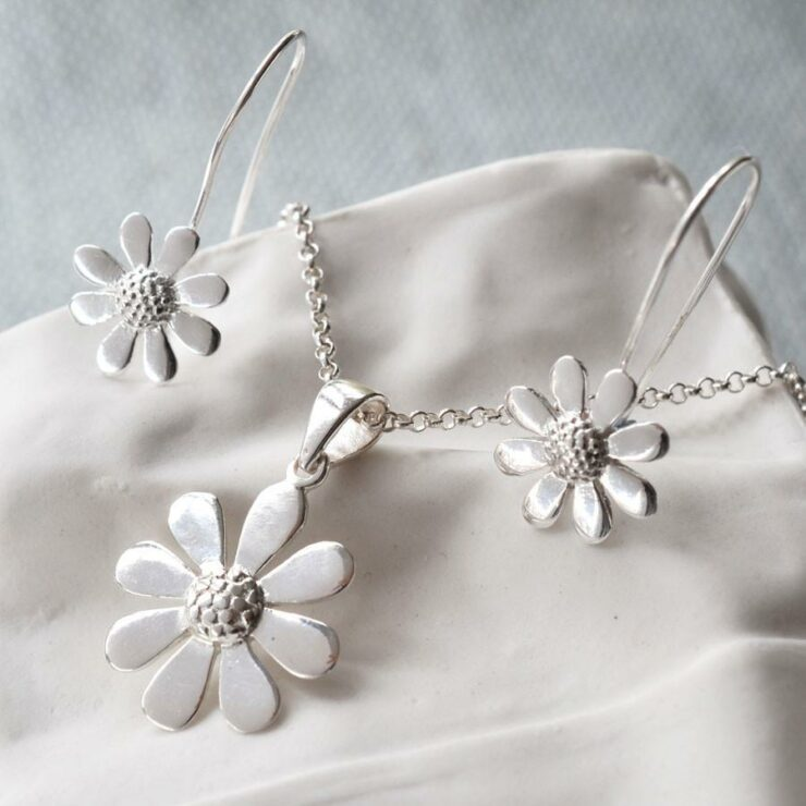 Sterling Silver Contemporary Daisy Set by Martha Jackson