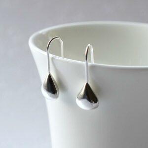 Sterling Silver Tear Drop Earrings by Martha Jackson