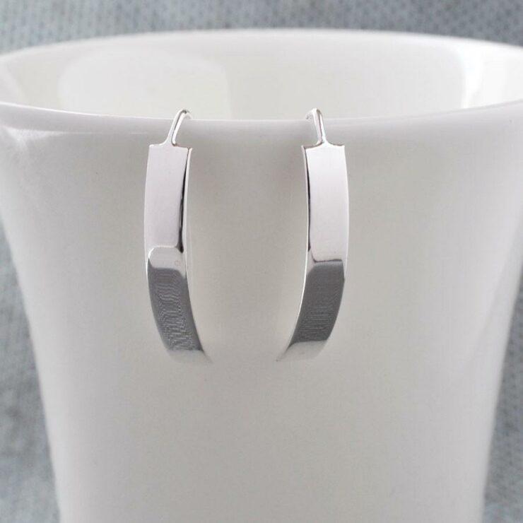 Silver Urban Shield Earrings by Martha Jackson