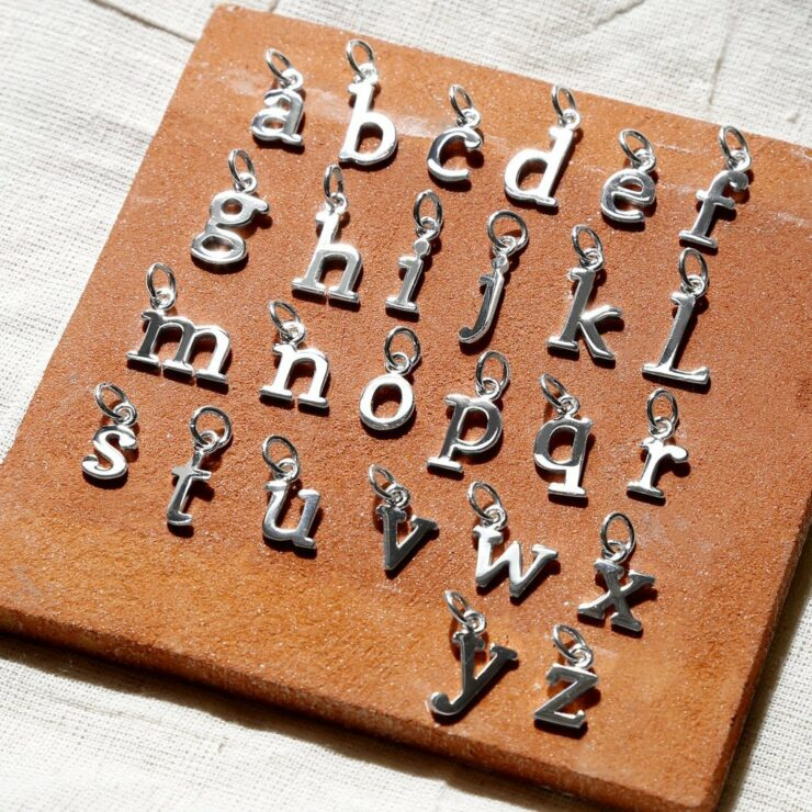 Addon Initials Letter Charms