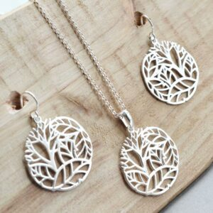 Silver Forest Circle Jewellery by Martha Jackson