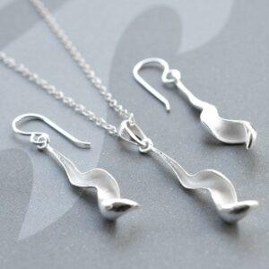 Silver Falling Leaf Jewellery by Martha Jackson