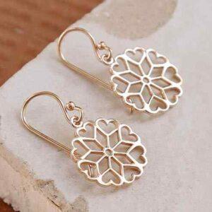 Rose Gold Plated Earrings