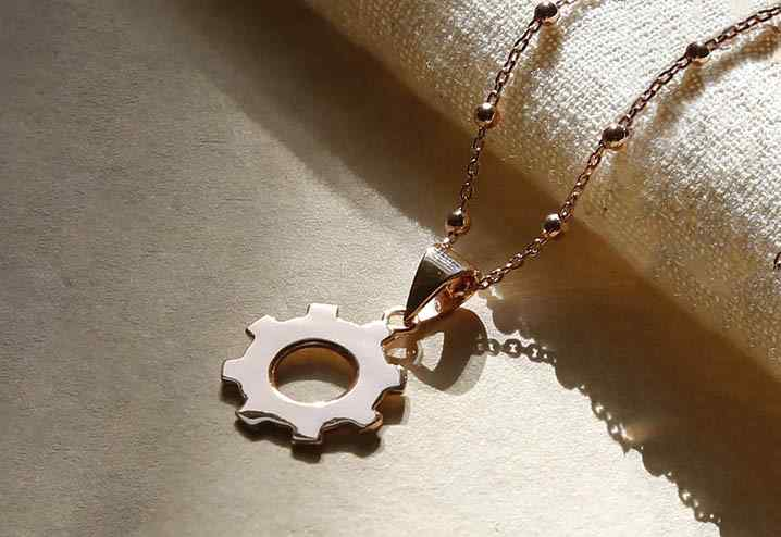 Rose Gold Plated Pendant Necklaces