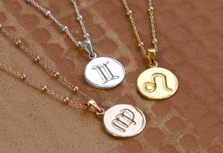 Zodiac Star Sign Pendant Necklaces